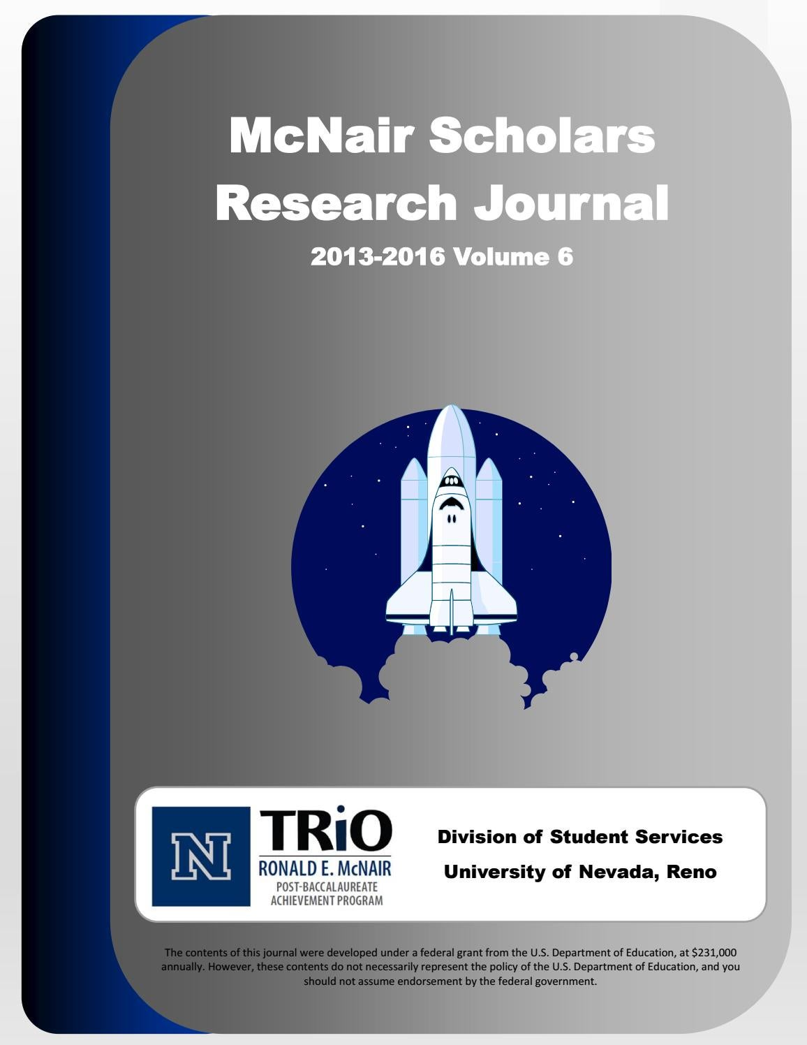 McNair Scholars Research Journal 2013 2016 Vol 6 By McNair