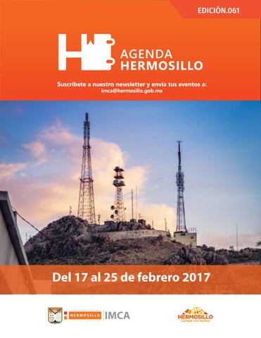"Cover of ""Agenda Hermosillo 17 feb 2017"""