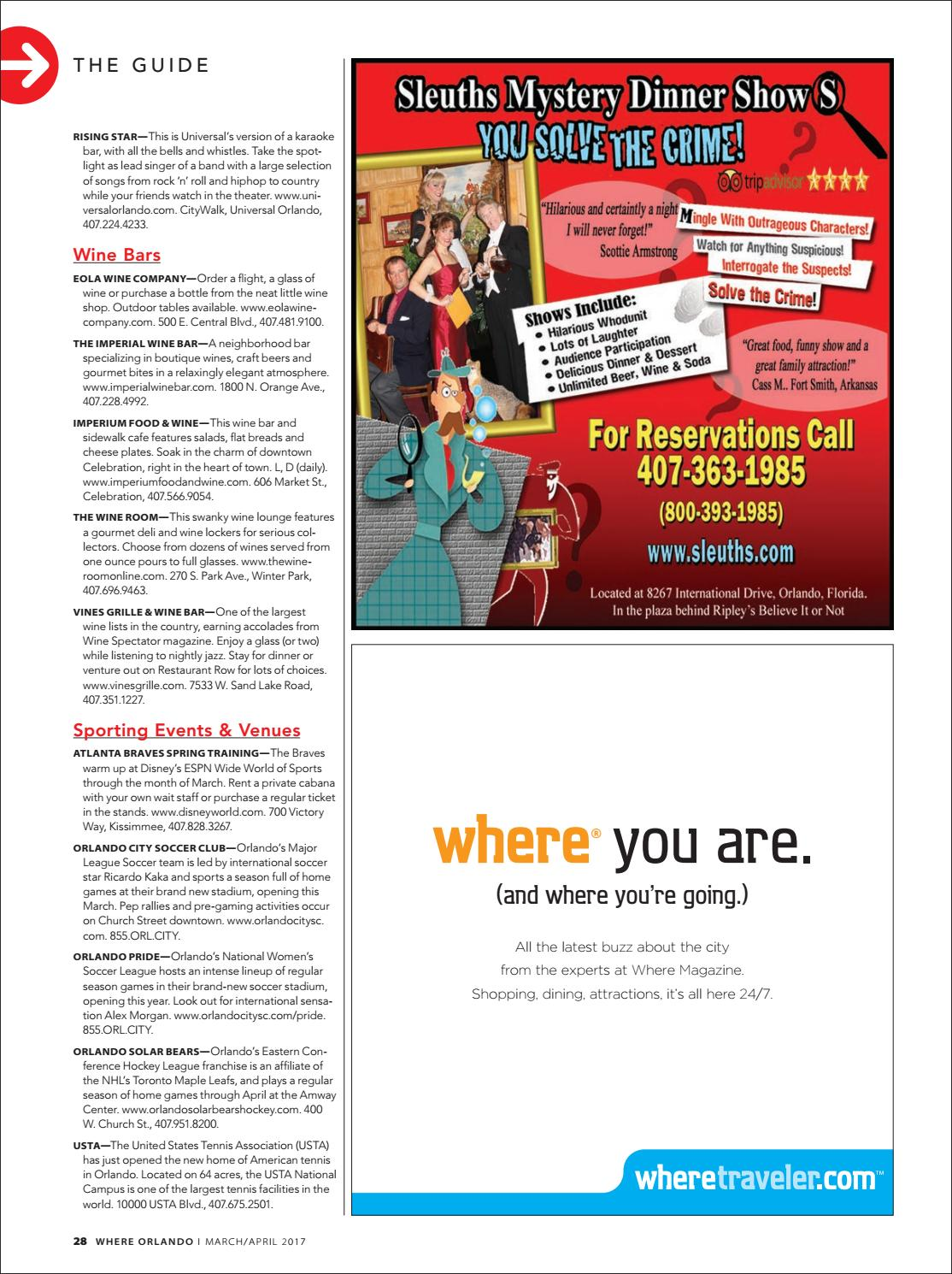 Where Orlando March - April 2017 by Morris Media Network - issuu