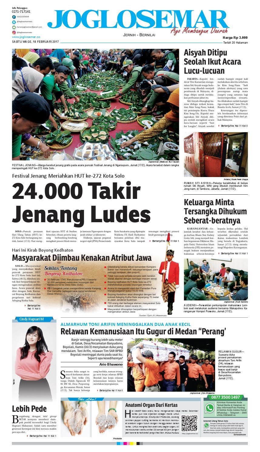 E paper 18 februari 2017 by PT Joglosemar Prima Media - issuu 594b57db78