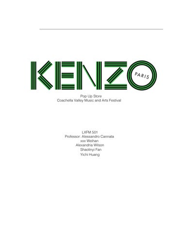 329c1f83 Pop Up Shop for KENZO by Yichi Huang - issuu