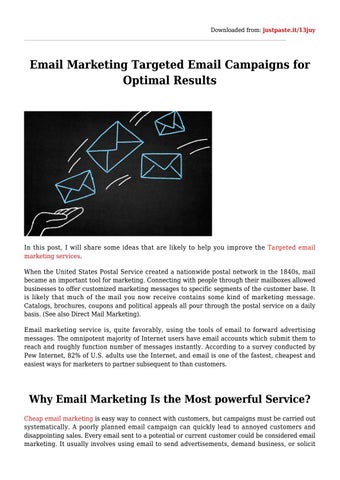How To Make Email Marketing Work for Your Small Business by Targeted