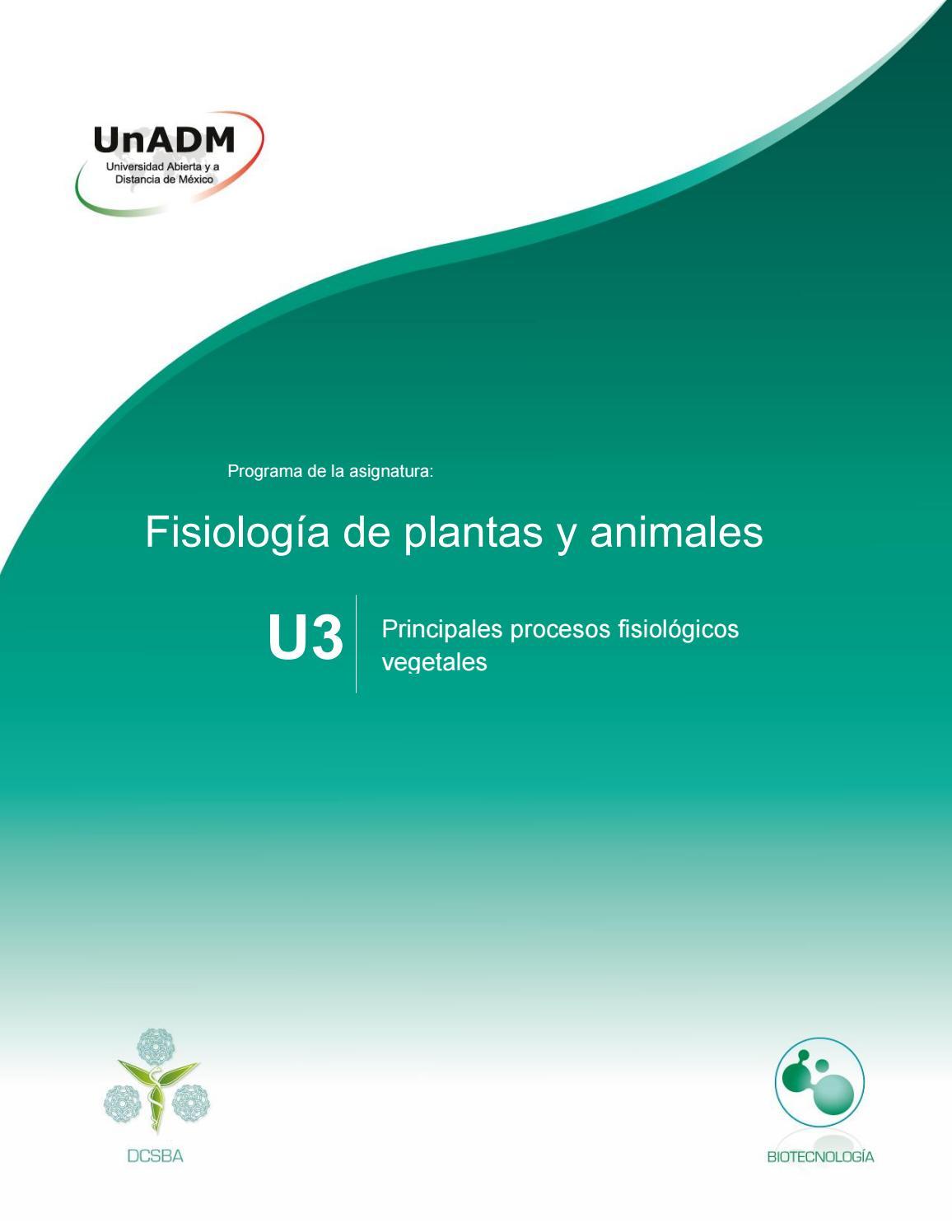 Unidad 3 Principales Procesos Fisiológicos Vegetales By