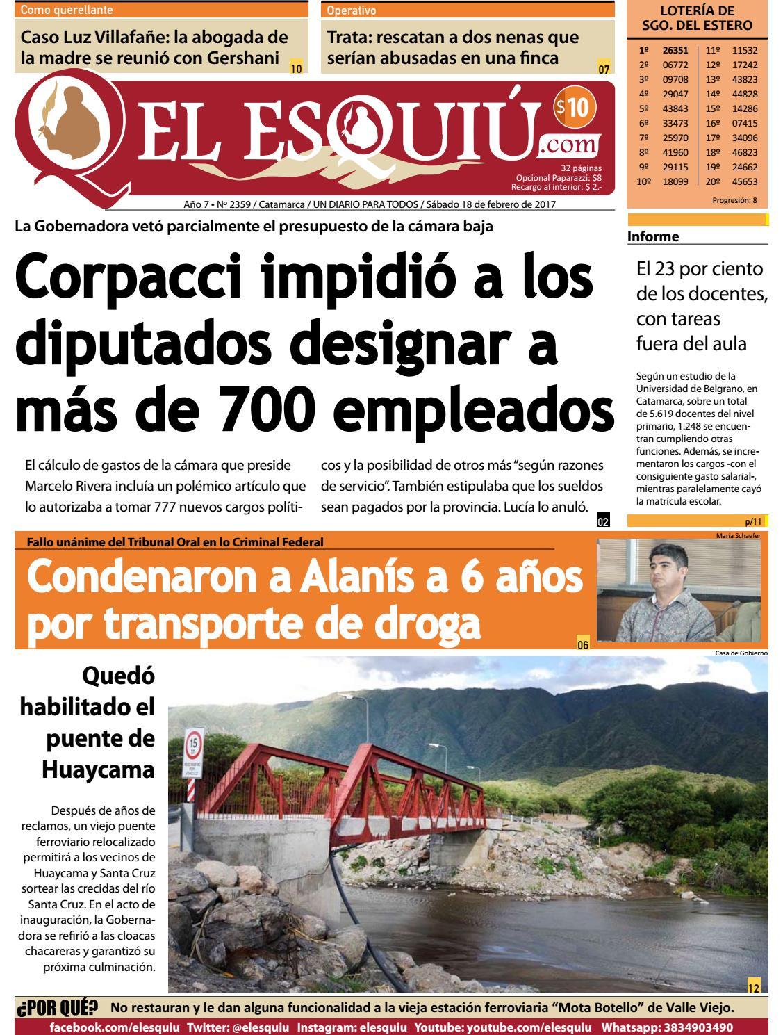 El Esquiu Com S Bado 18 De Febrero De 2016 By Editorial El Esqui  # Muebles Yoma Antofagasta