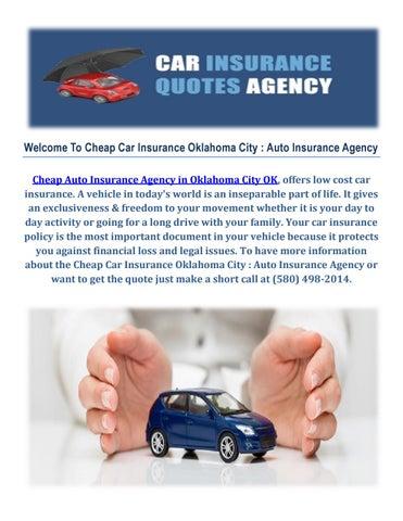 Low Cost Auto Insurance >> Cheap Car Insurance In Oklahoma City Auto Insurance Agency