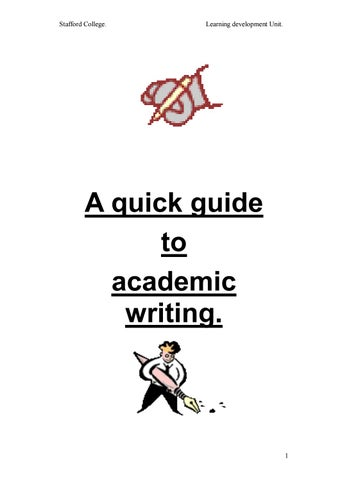 A quick guide to academic writing by ousama ahmed aklan issuu page 1 fandeluxe Gallery
