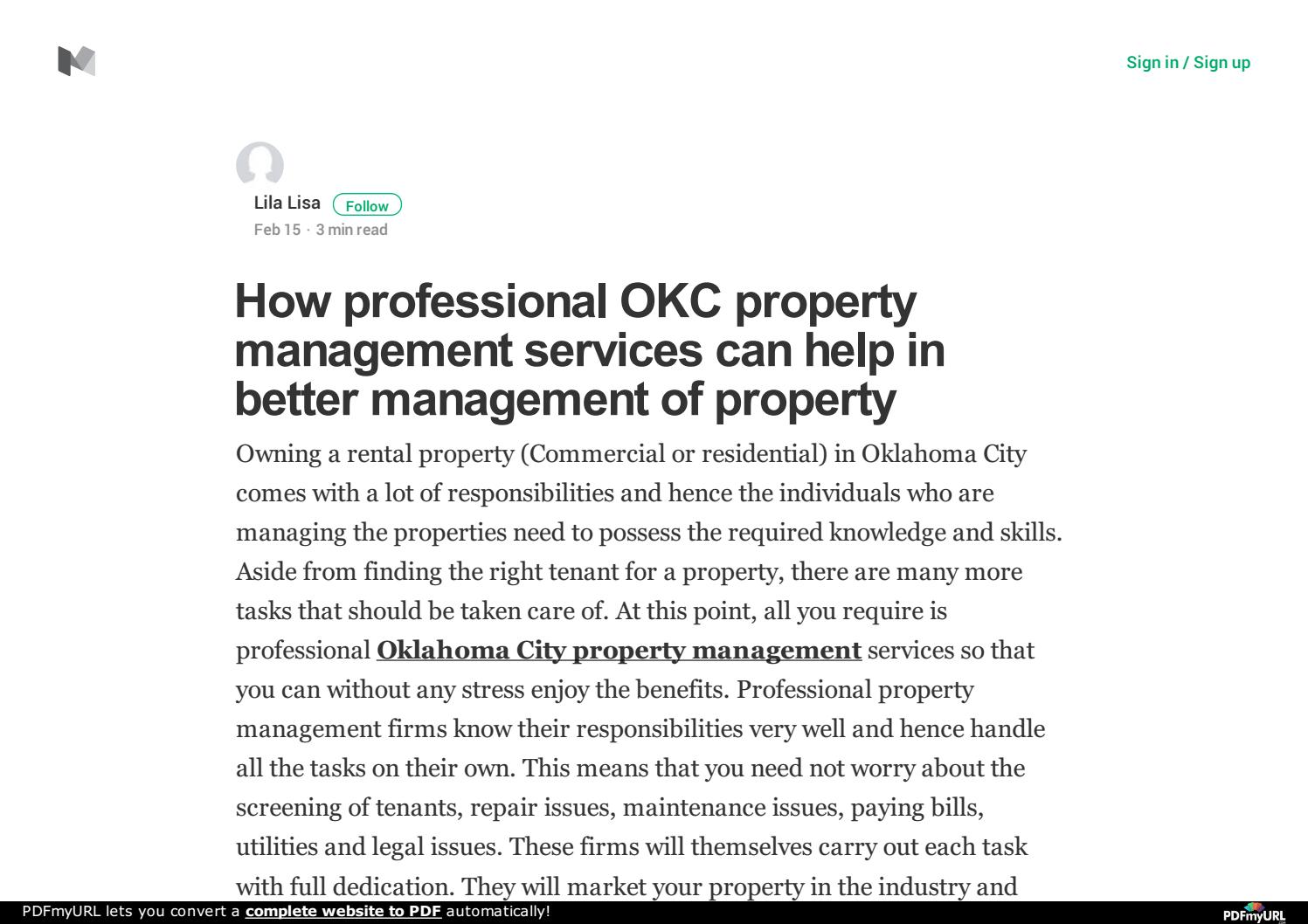 What Do A Successful Okc Property Management Company Can Do For You By Lila  Lisa   Issuu