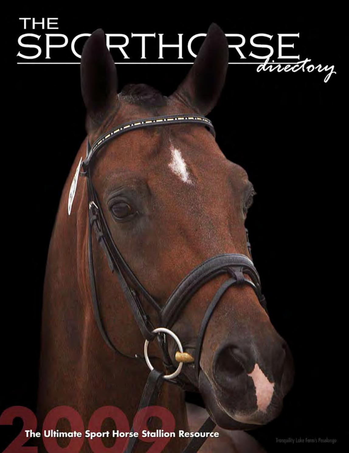 The Sporthorse Directory 2009 By Equiluxe Marketing Issuu