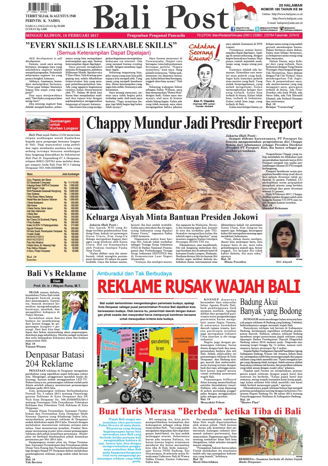 Edisi19 Februari 2017 Balipostcom By E Paper KMB Issuu