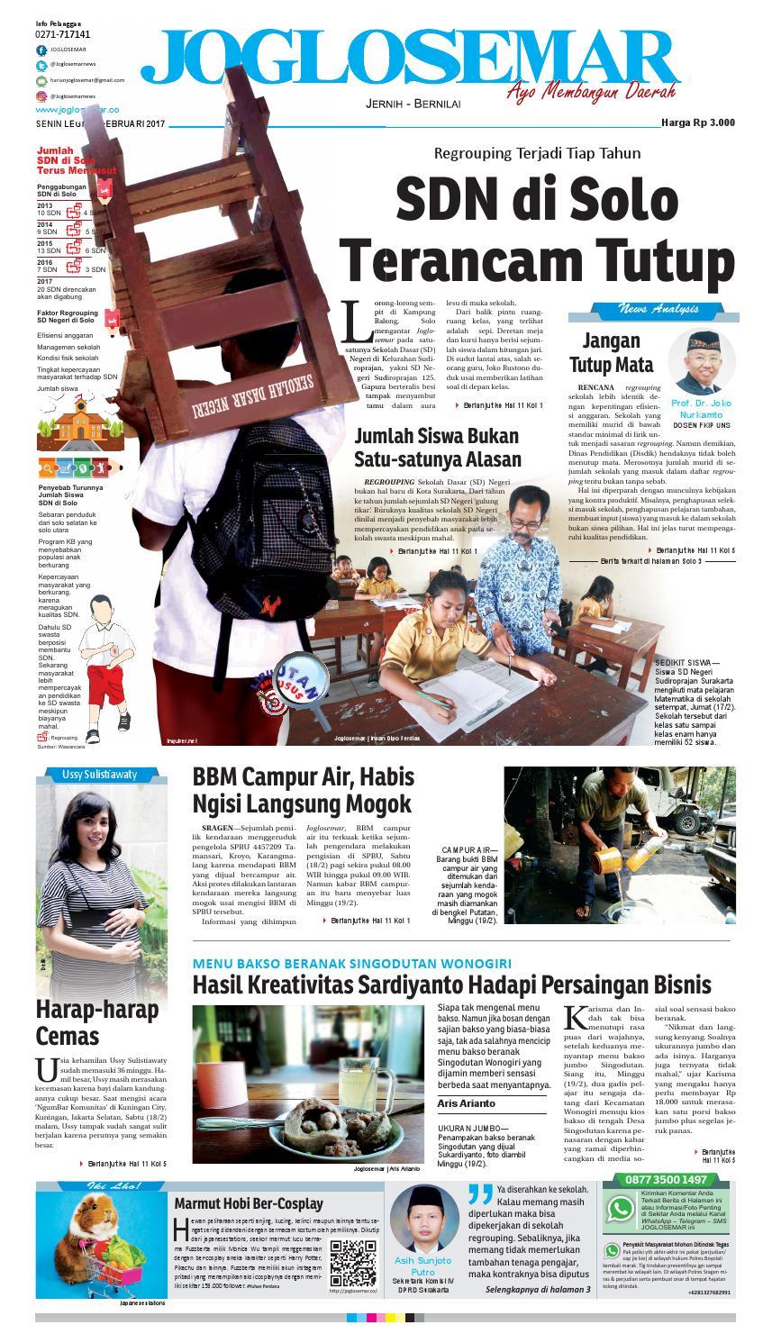 E Paper 20 Februari 2017 By Pt Joglosemar Prima Media Issuu Produk Ukm Bumn Batik Lengan Panjang Parang Toko Ngremboko