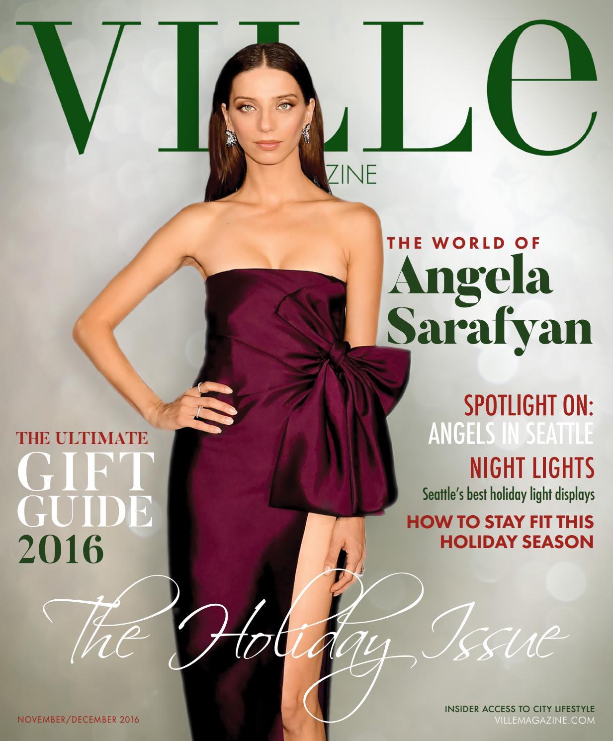 Angela Sarafyan Tits nov/dec 2016 l the holiday issueville magazine - issuu