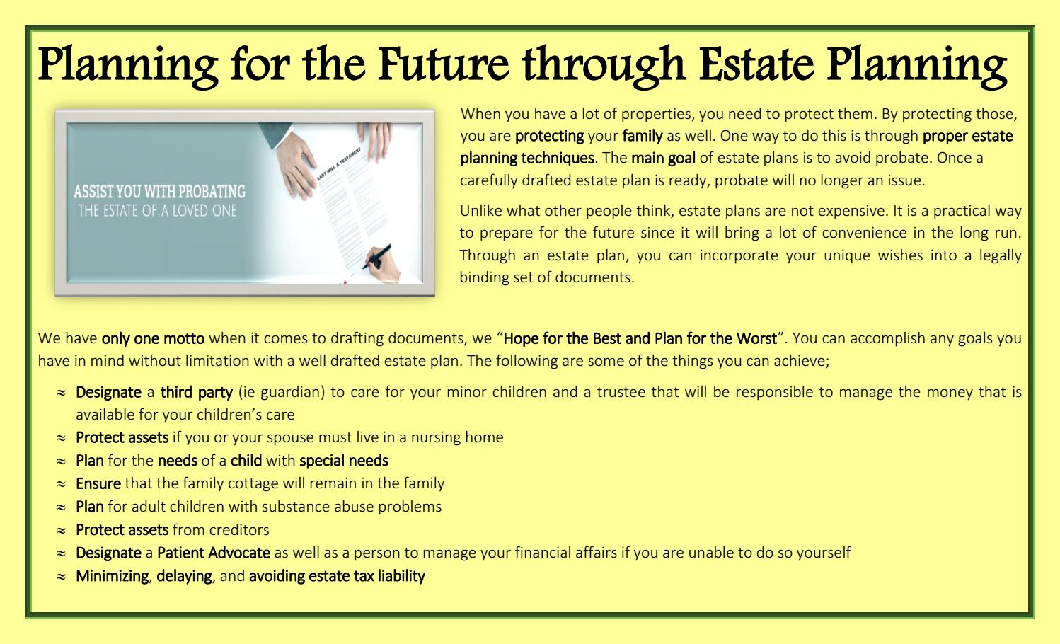 Planning for the future through estate planning by michael van planning for the future through estate planning by michael van tubergen issuu solutioingenieria Gallery