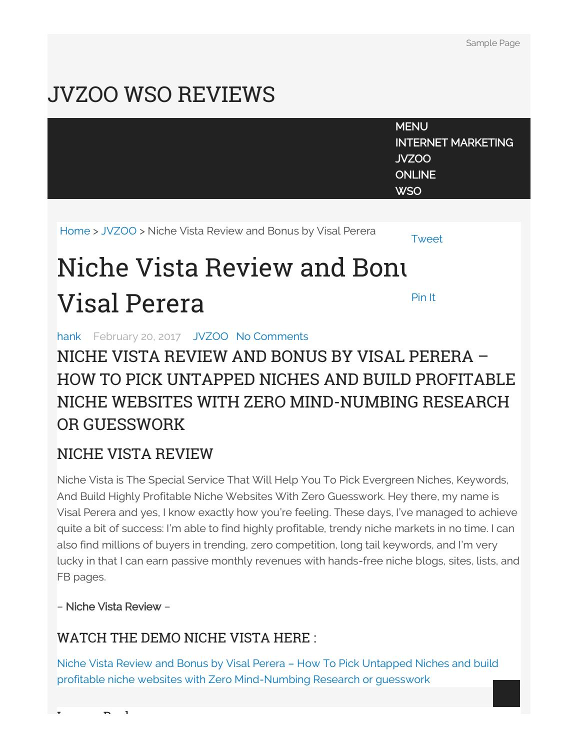 Niche vista review and bonuses by Zipper Fany - issuu