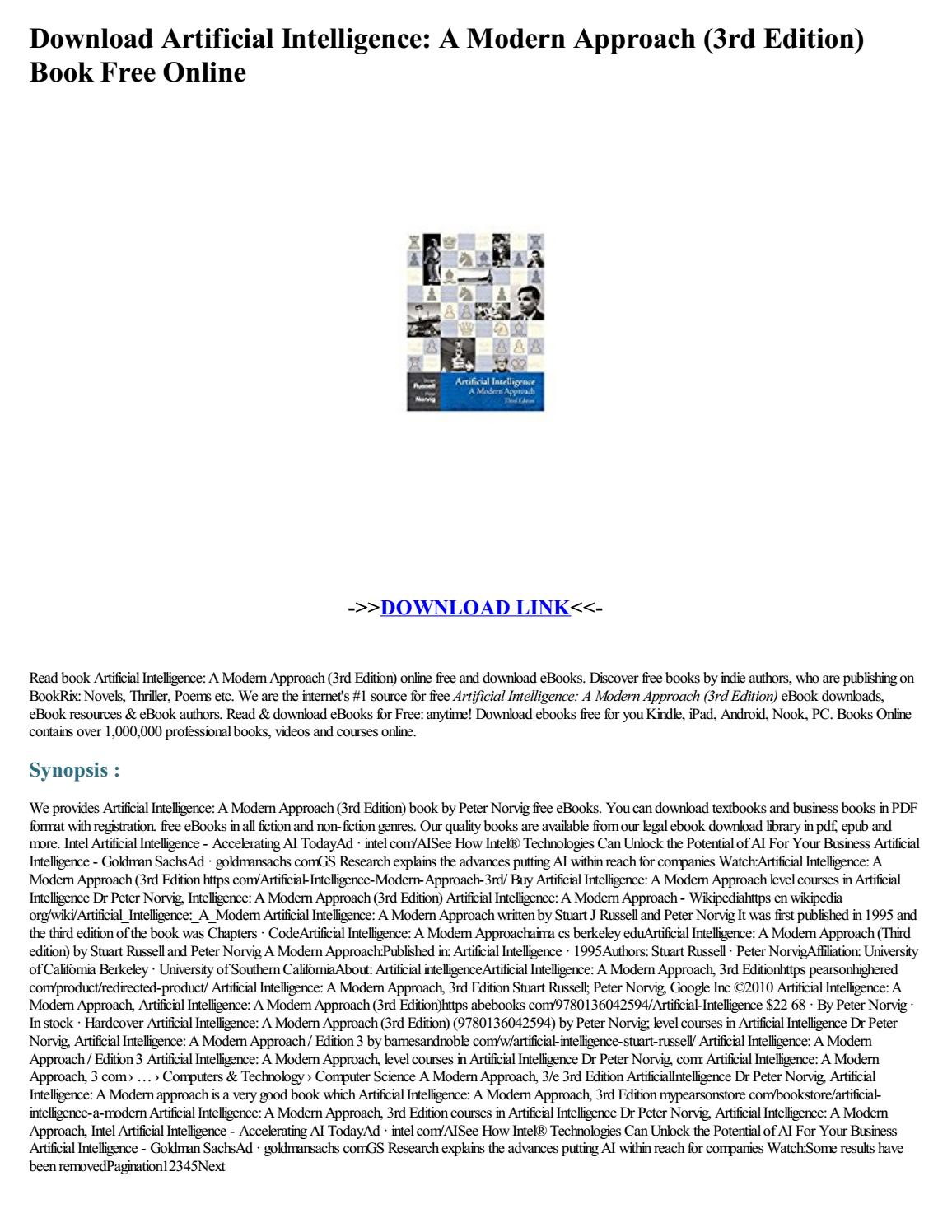 Artificial Intelligence Textbook
