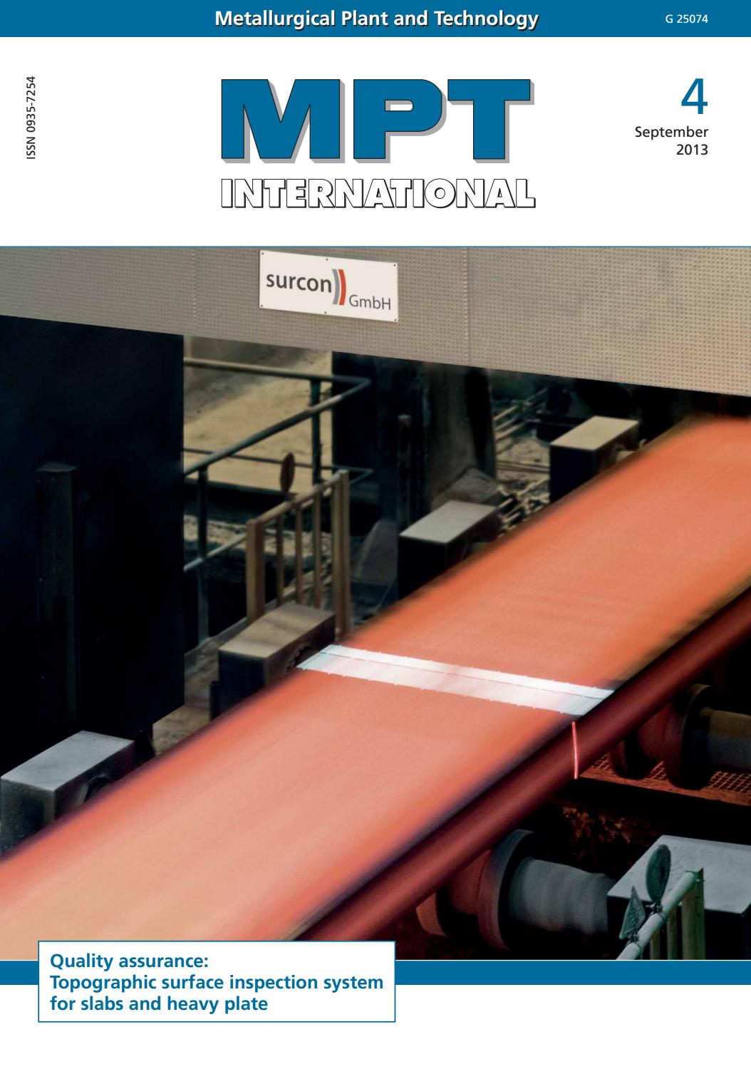 MPT International 4/2013 (Sep) by MPT Metallurgical Plant