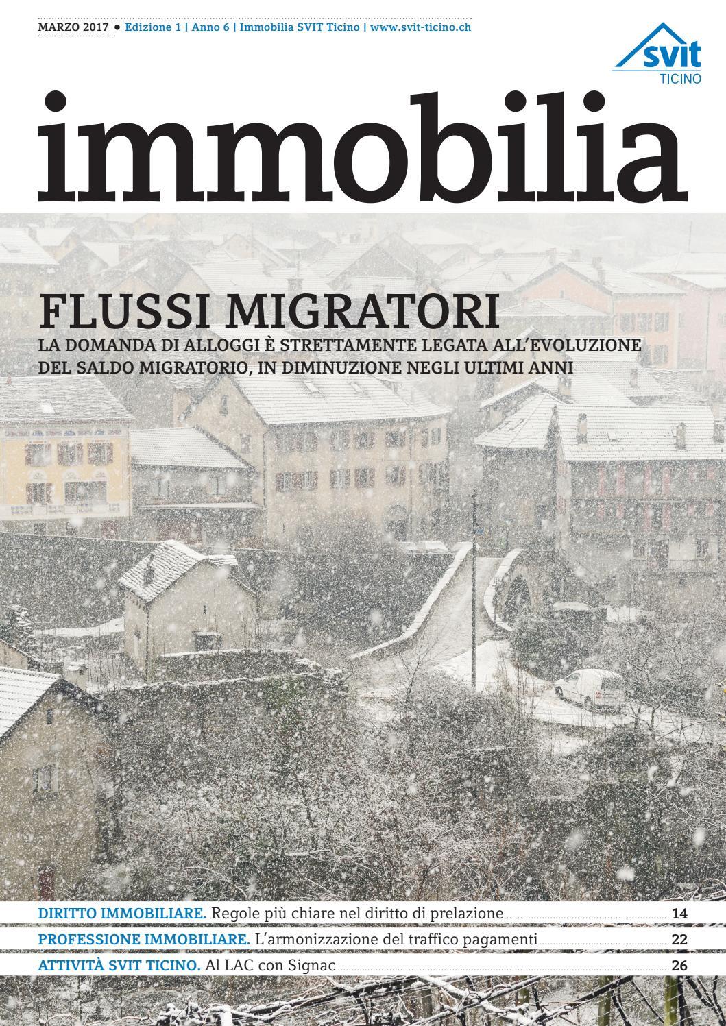 Svit Immobilia Marzo 2017 By Svit Ticino Issuu