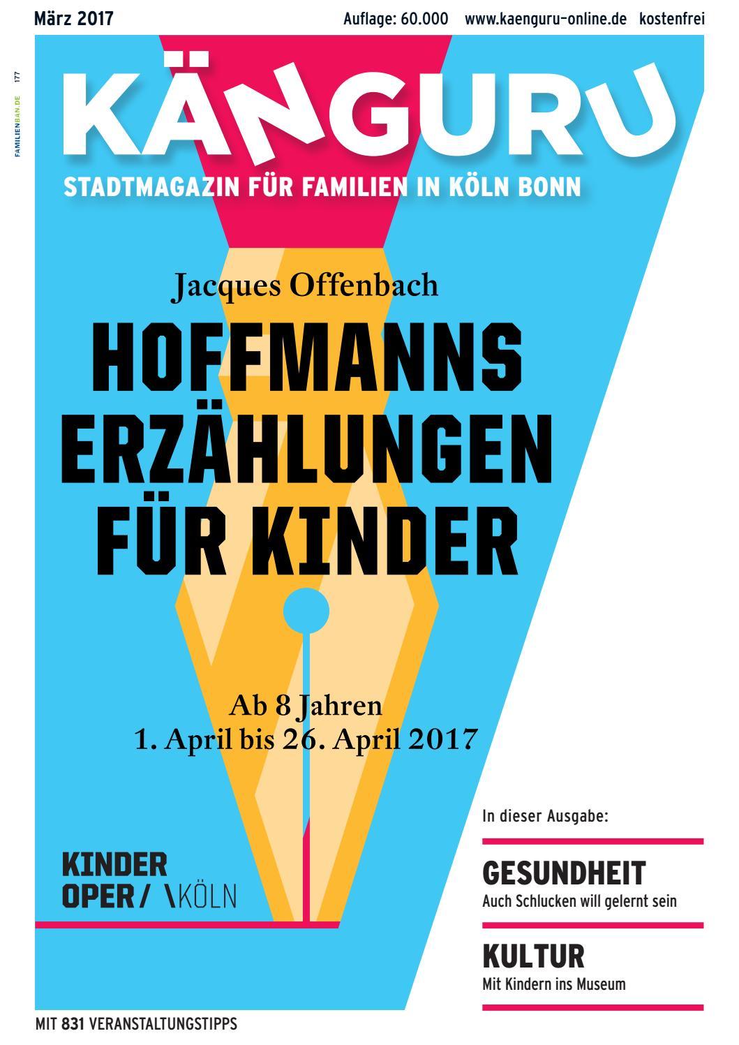KÄNGURU Stadtmagazin für Familien in KölnBonn März 2017 by Känguru Colonia  Verlag - issuu