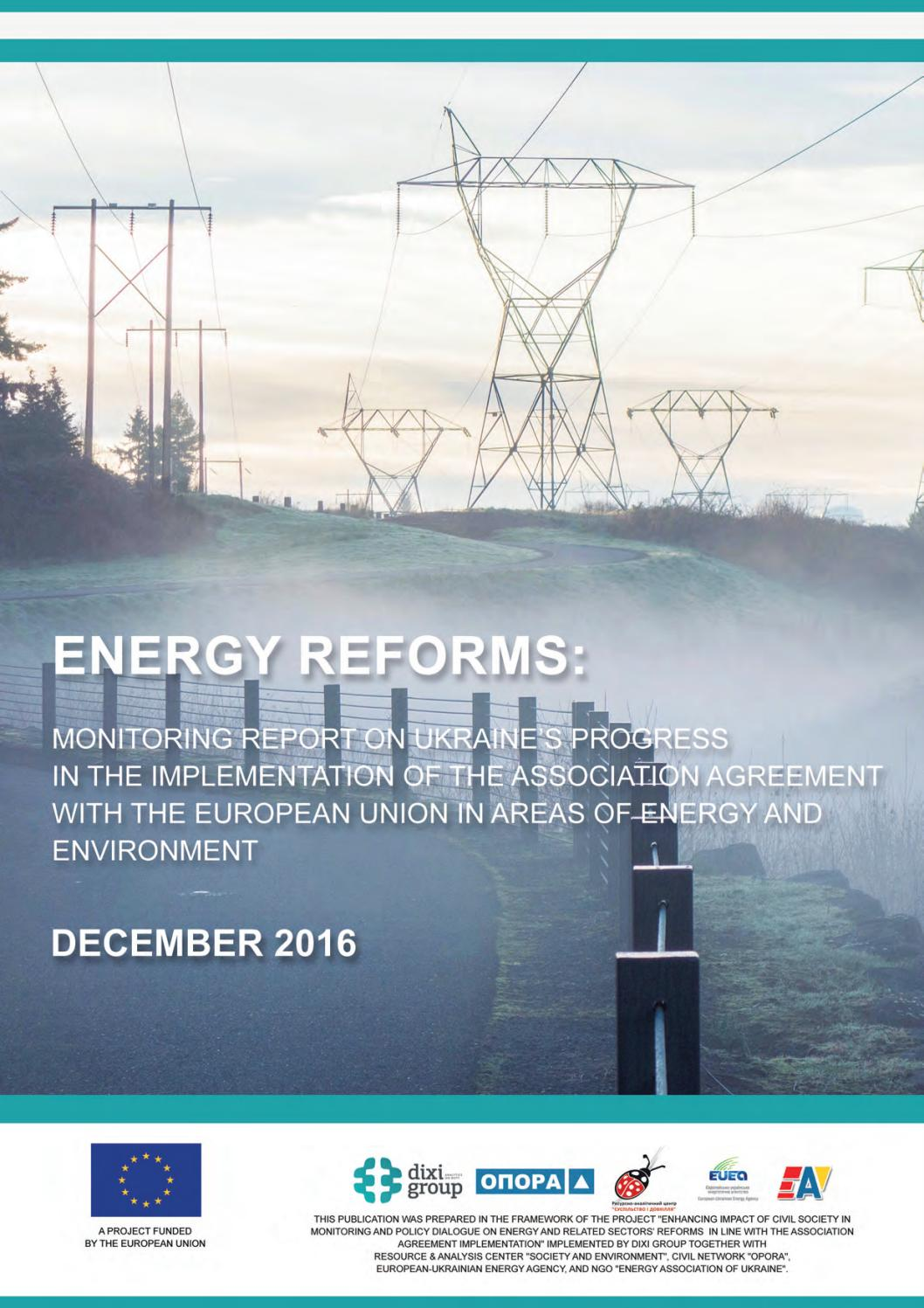 Energy Reforms December 2016 Review By Ukrainian Energy Issuu