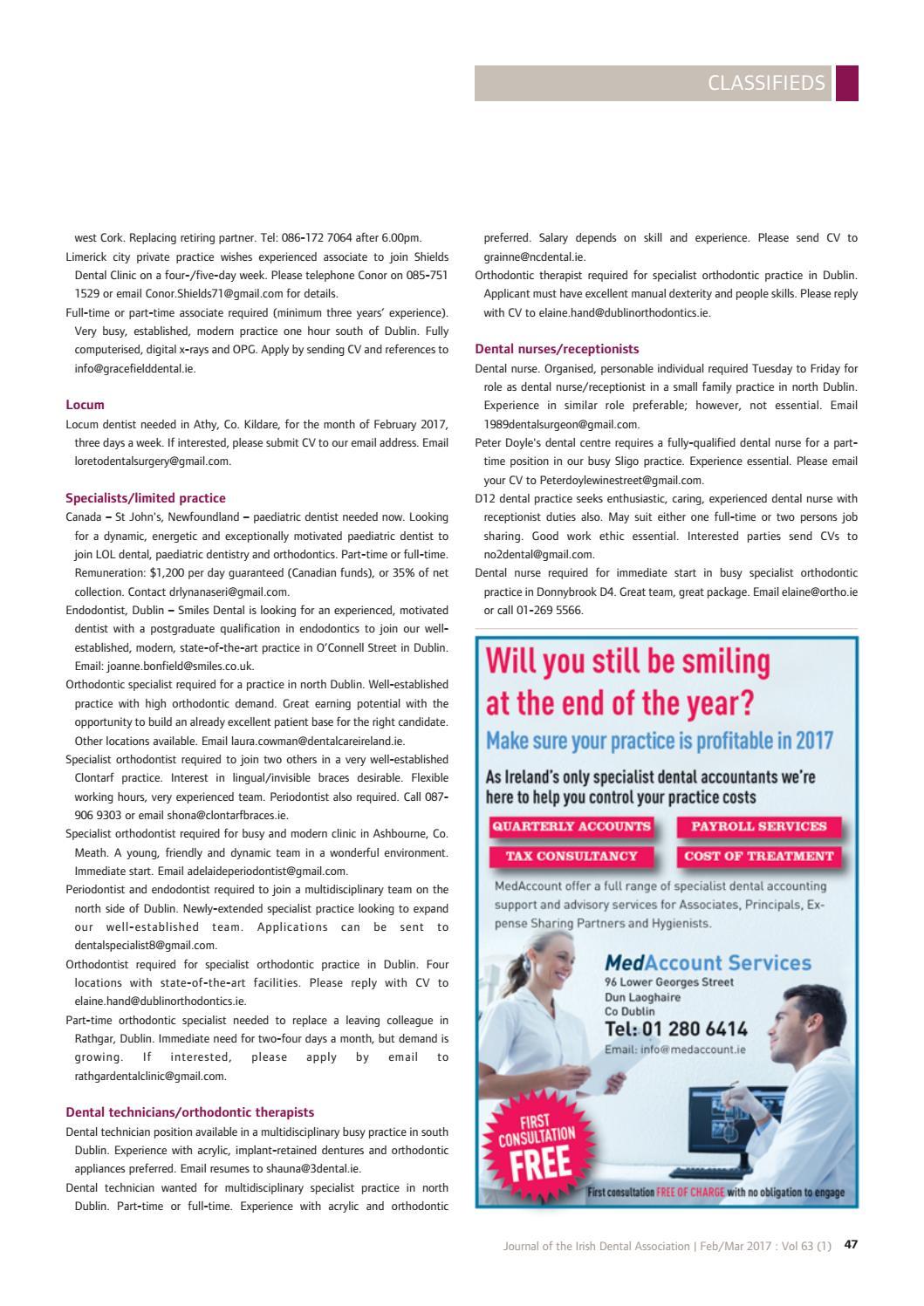 Journal of the Irish Dental Association non-members February