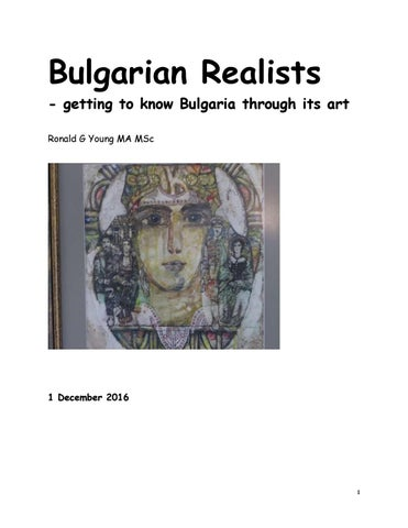 Bulgarian realists getting to know bulgaria through its art by bulgarian realists getting to know bulgaria through its art ronald g young ma msc fandeluxe Choice Image