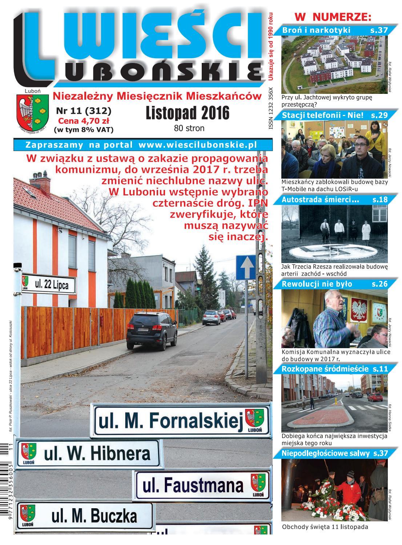 0b515413774d2 Wieści Lubońskie 2016/11 by WiesciLubonskie - issuu