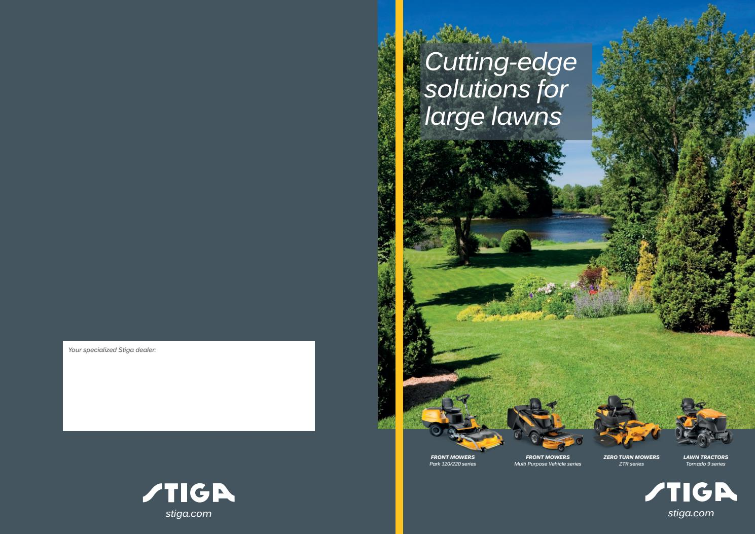 Stiga Folder Large Lawn Mowers By Stiga Issuu