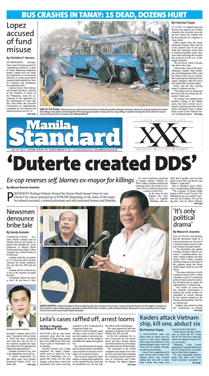 Manila Standard - 2017 February 21 - Tuesday by Manila Standard - issuu