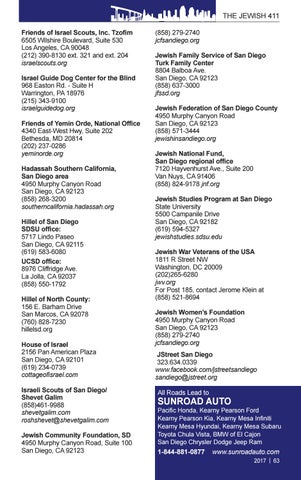 Kearny Pearson Kia >> 2017 Southern California Jewish 411 By San Diego Jewish