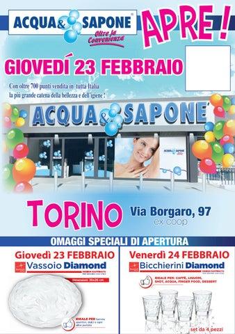 Volantino Acqua&Sapone - Apertura Torino by Acqua & Sapone ...