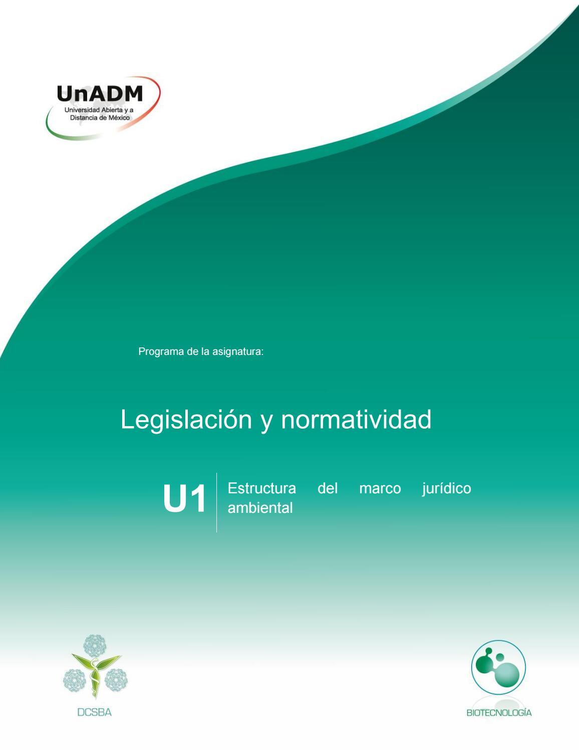 Unidad 1 Estructura Del Marco Jurídico Ambiental By Jazina
