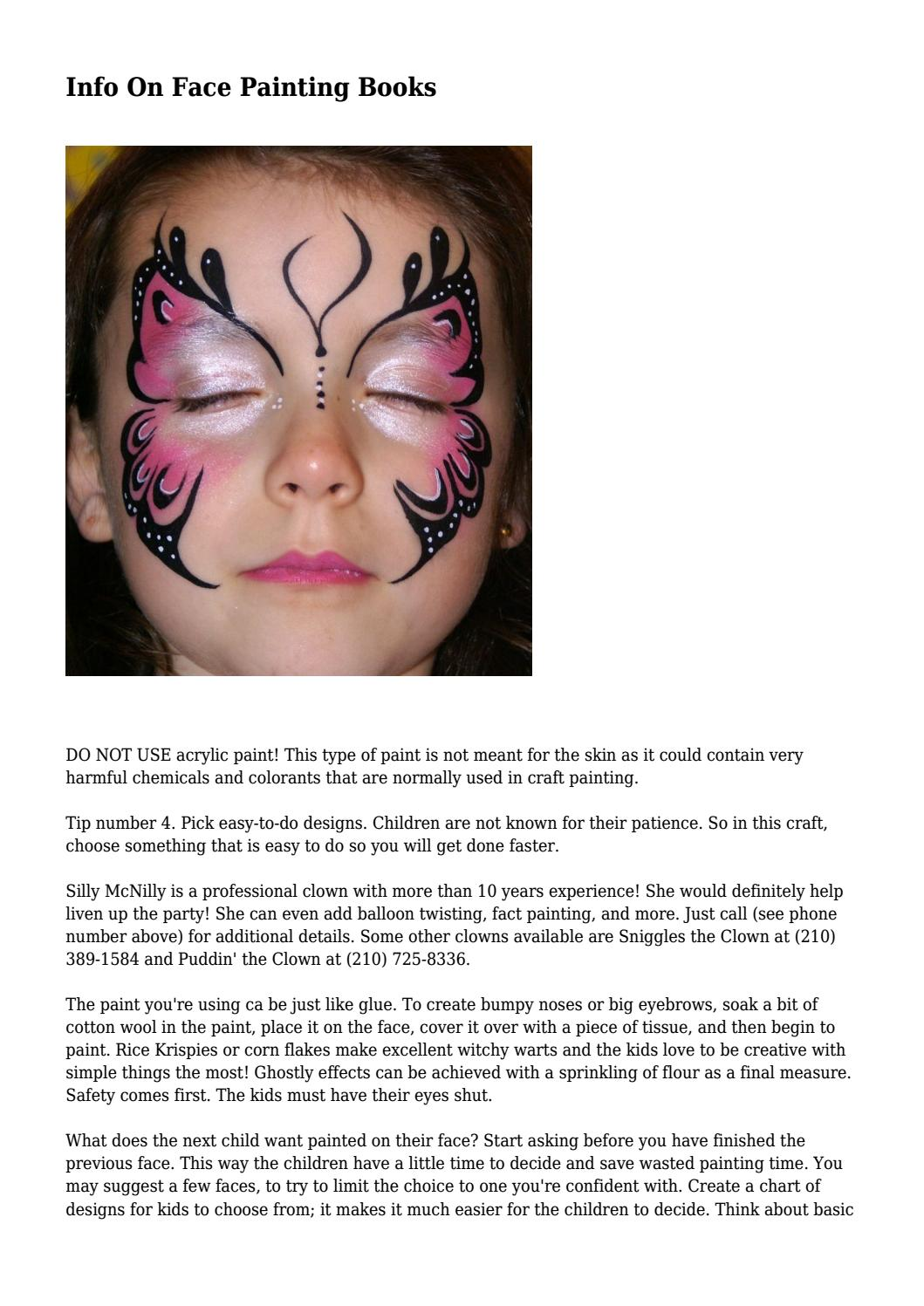 Info On Face Painting Books By Flynnaxxhfqkfzn Issuu