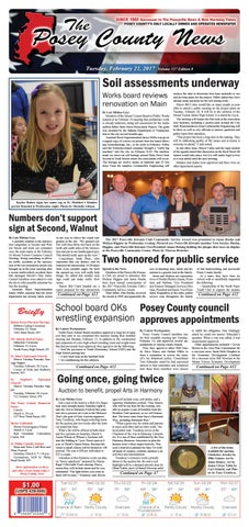 February 21 2017 The Posey County News By The Posey County News