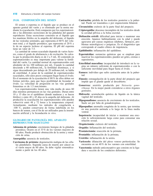 acumulación de esperma en la próstata