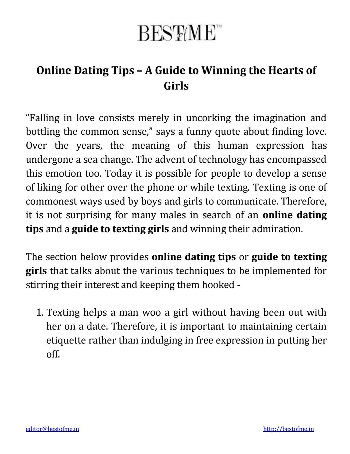techniques for online dating
