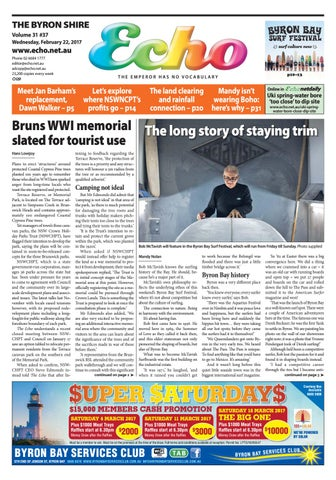 b30d27adc9b384 Byron Shire Echo – Issue 31.37 – 22/02/2017 by Echo Publications - issuu