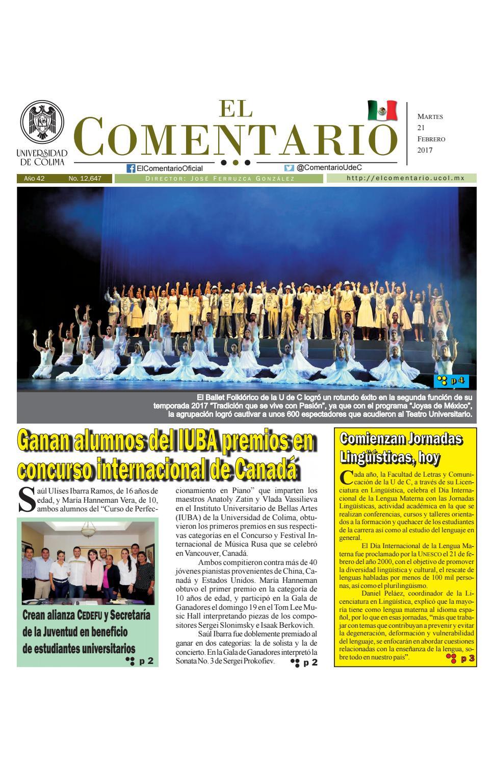 a1b5b0fac600 Edición del martes 21 de febrero de 2017 by Pepe Ferruzca - issuu