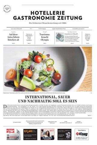 HG Zeitung 4 2017 By Hotellerie Gastronomie Verlag