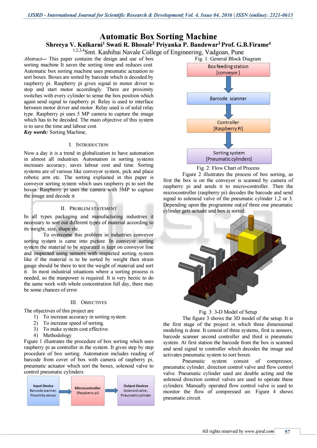 Automatic Box Sorting Machine by International Journal for