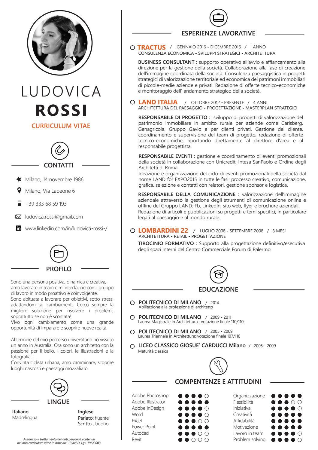 Cv Ludovica Rossi 2017 By Ludovica Rossi Issuu