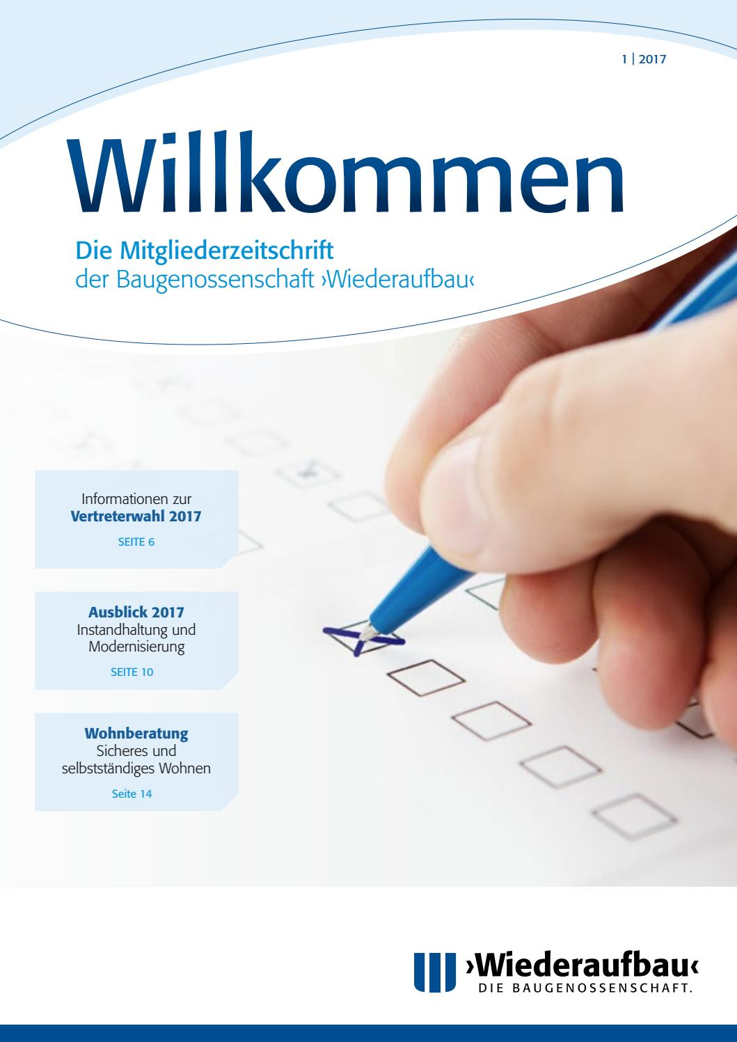Wiederaufbau Willkommen 1|2017 by wiederaufbau - issuu