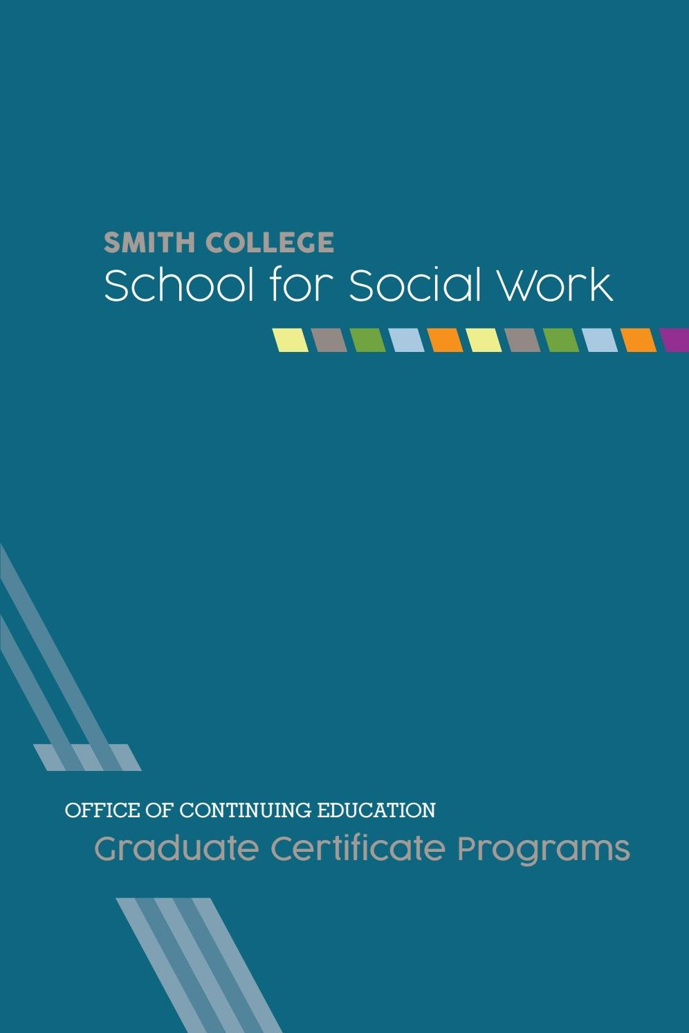 Ssw Continuing Ed Certificates Brochure By Smith College School For