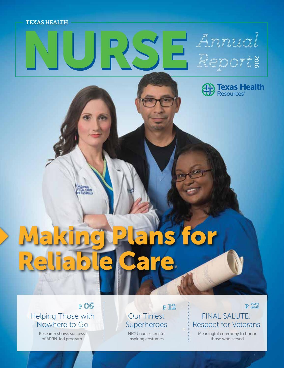Texas Health 2016 Nurse Annual Report by THR Internal
