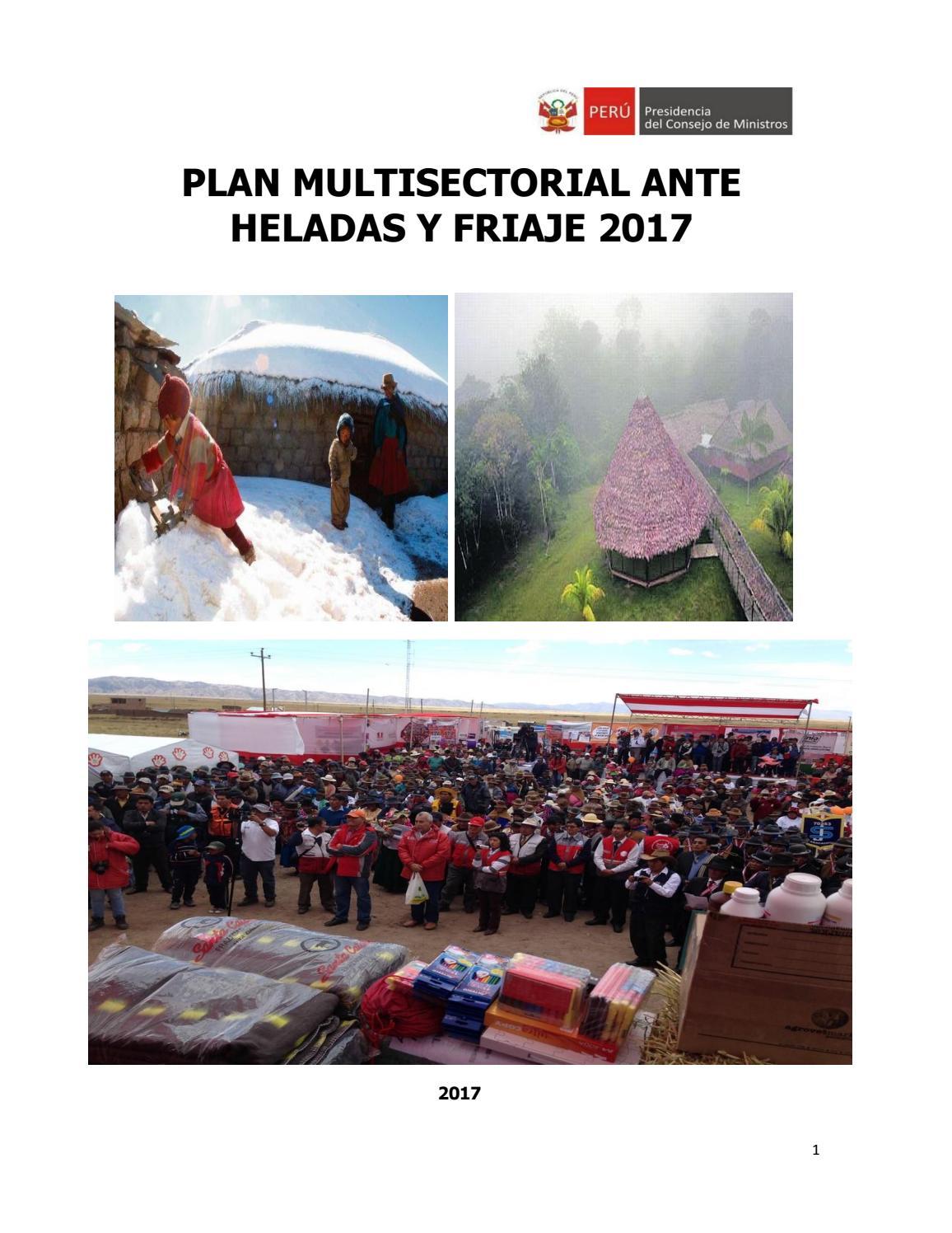 Plan Multisectorial ante Heladas y Friaje 2017 by SGRD - issuu