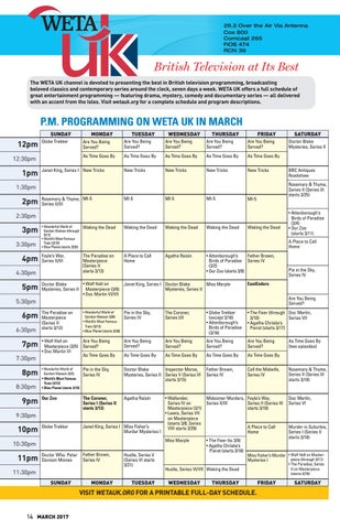 picture about Weta Uk Printable Schedule called March 2017 - WETA Journal as a result of WETA - issuu