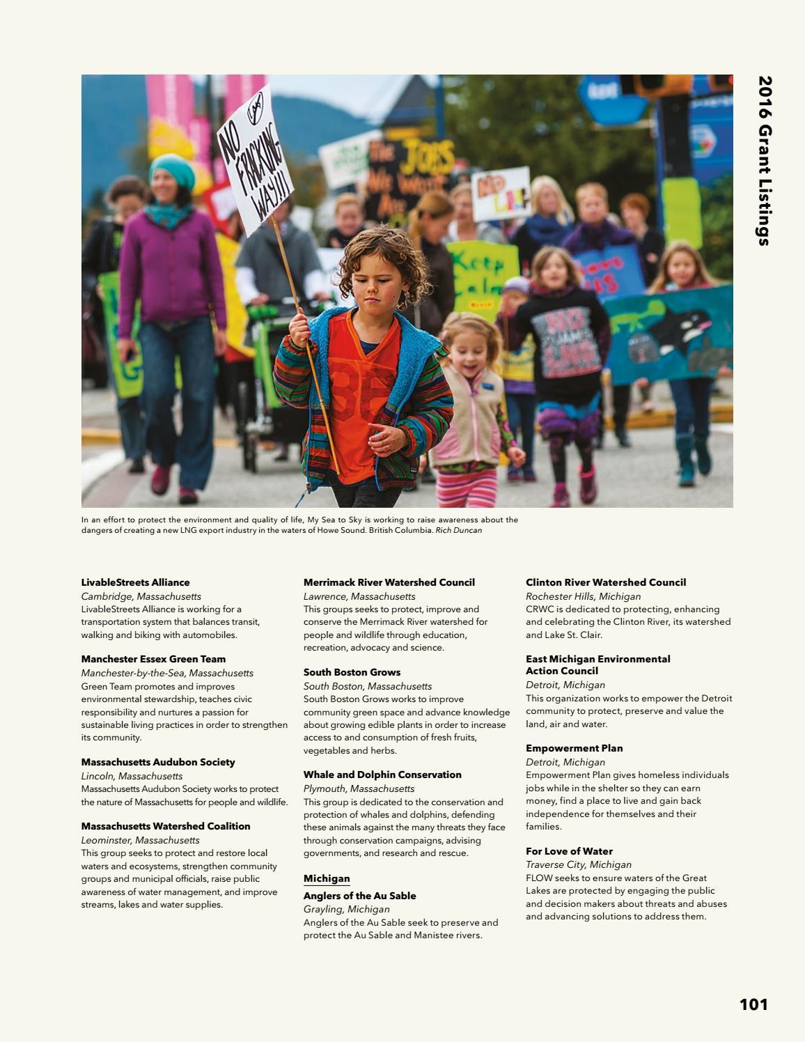 Patagonia Europe Environmental & Social Initiatives 2016 by
