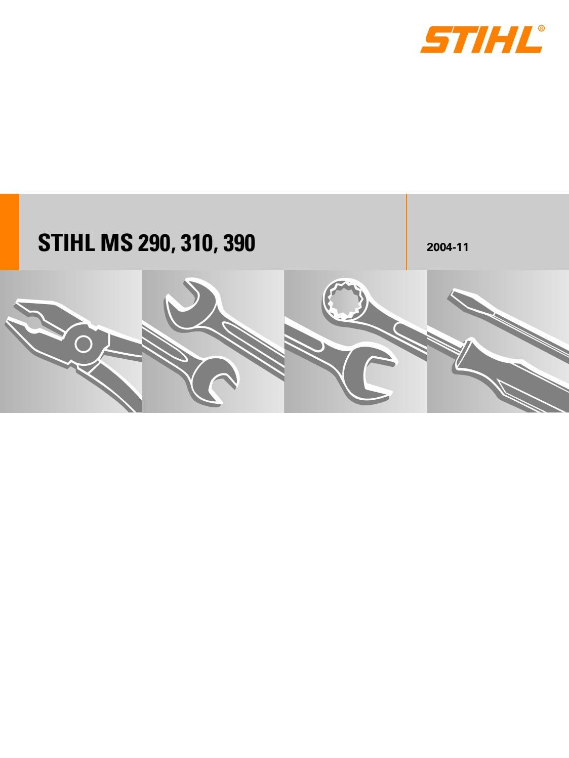 Stihl Ms 290 310 390 Service Manual By Glsense Issuu