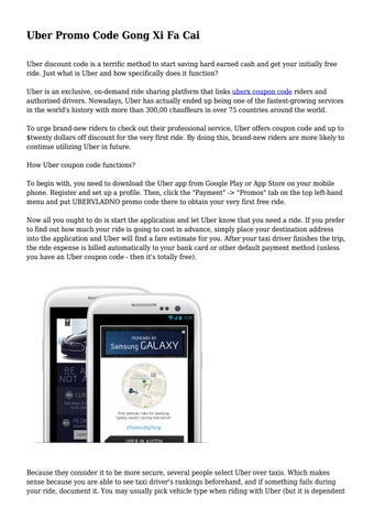 uber promo code gong xi fa cai by travelworld16 issuu