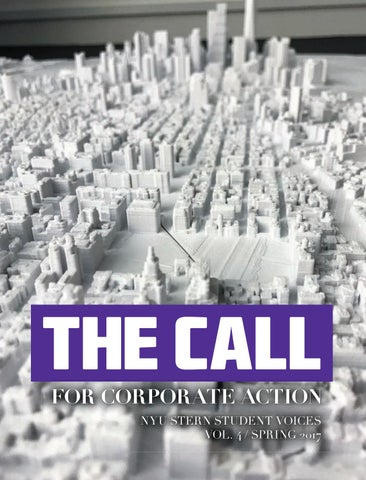 The call for corporate action nyu stern student voices vol 4 for corporate action nyu stern student voices vol 4 spring 2017 reheart Images
