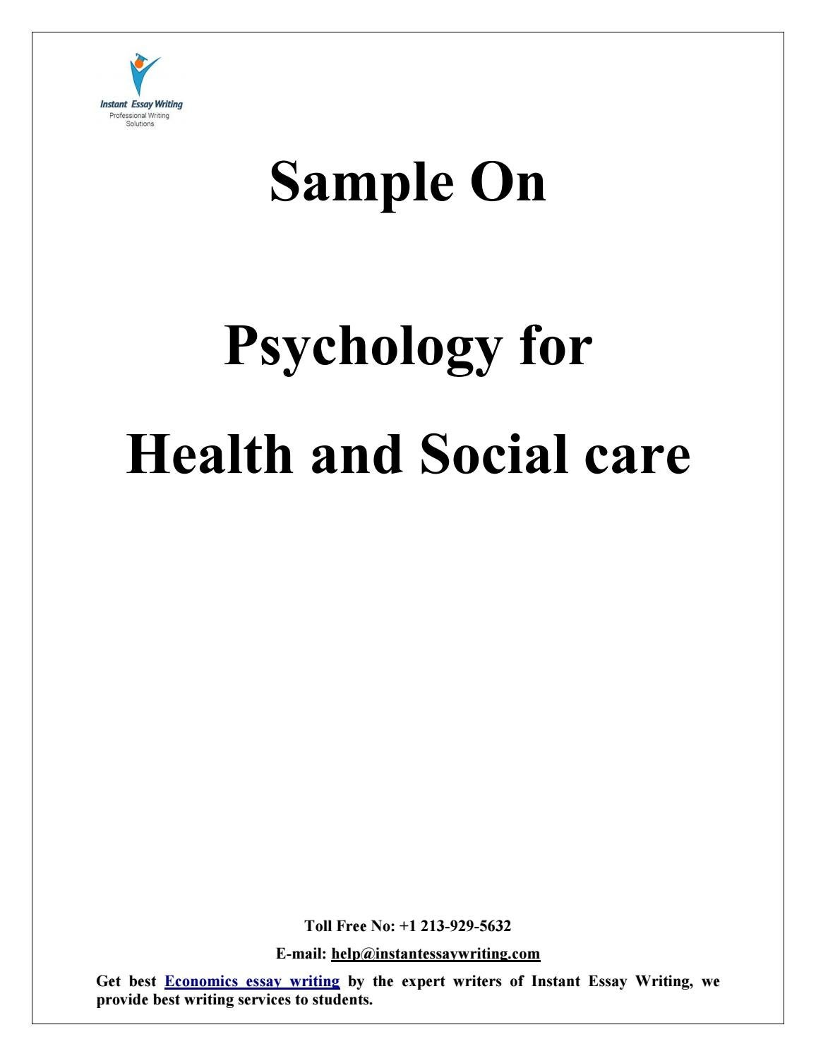 sample on psychology for health and social care by instant essay  sample on psychology for health and social care by instant essay writing by instant essay writing issuu