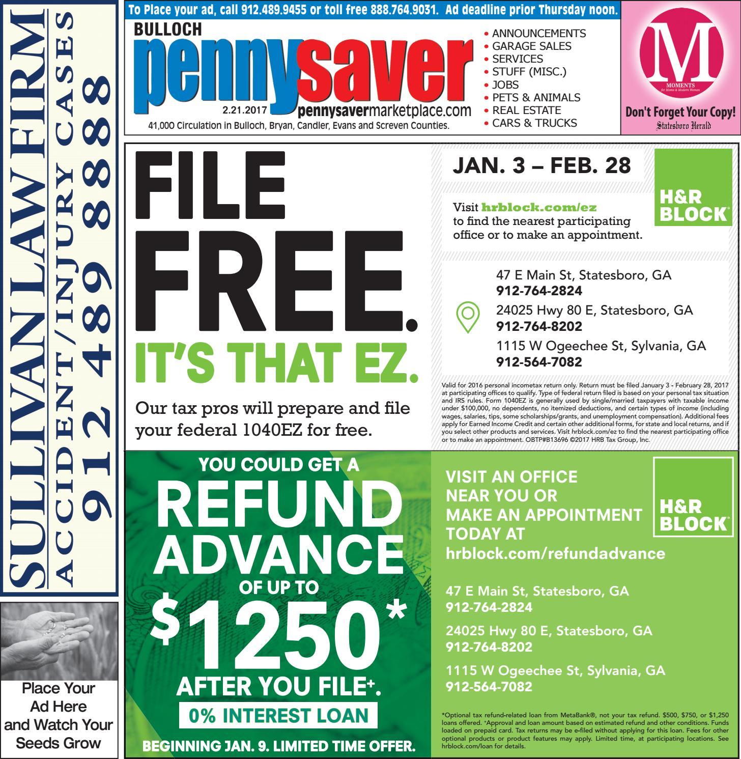 Bulloch PennySaver By Statesboro Herald